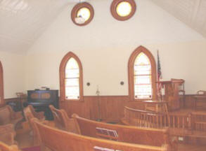 View from right pews